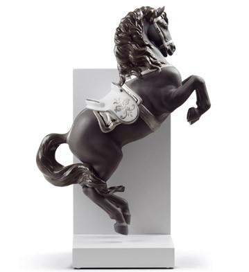 Horse On Courbette (re-deco) Lladro Figurine