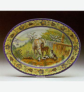Horses And Dogs Plate Lladro Figurine
