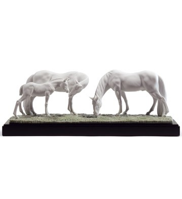 Horses In The Meadow Lladro Figurine