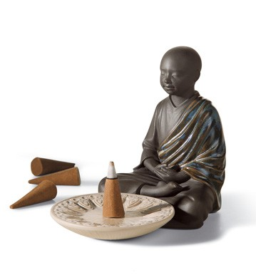 Incense Burner (black) Lladro Figurine
