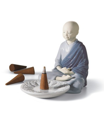 Incense Burner (blue) Lladro Figurine