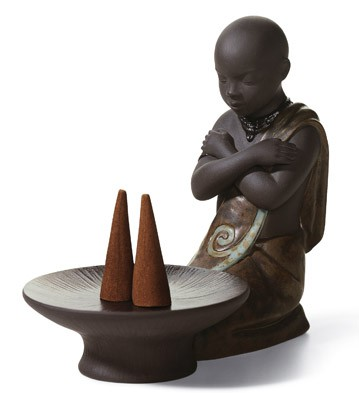 Incense Burner Pulse Of Africa Lladro Figurine