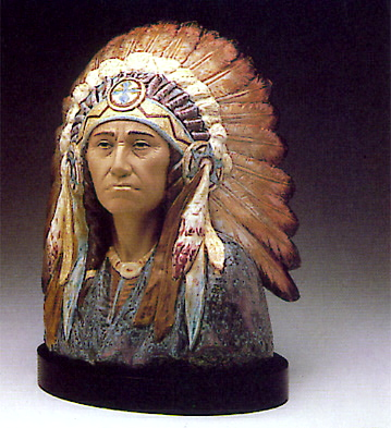 Indian Chief -b- Lladro Figurine