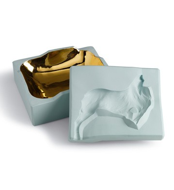 Inside Out Box - Dog (turquoise) Lladro Figurine