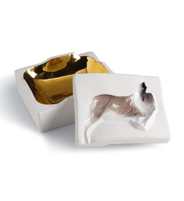 Inside Out Box - Dog (white) Lladro Figurine