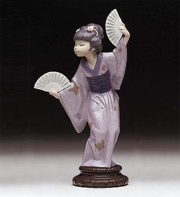 Japanese With Fan Lladro Figurine