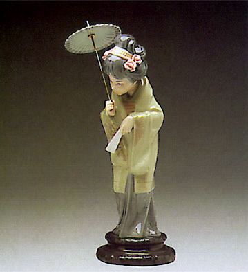 Japanese With Parasol Lladro Figurine