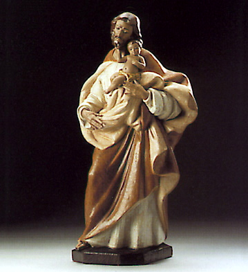 Jesus And Joseph Lladro Figurine