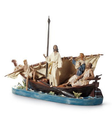 Jesus In The Tiberiades Lladro Figurine