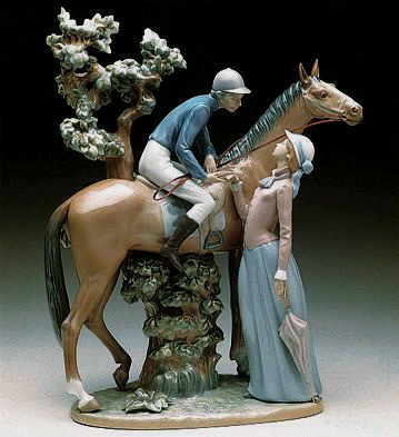 Jockey And Lady Lladro Figurine