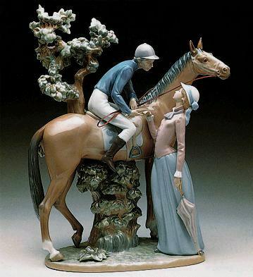 Jockey And Lady Lladro Figurine