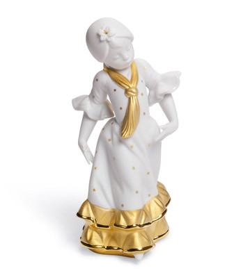 Juanita  (re-deco Golden) Lladro Figurine