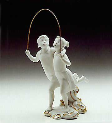 Jumping The Hoop Lladro Figurine