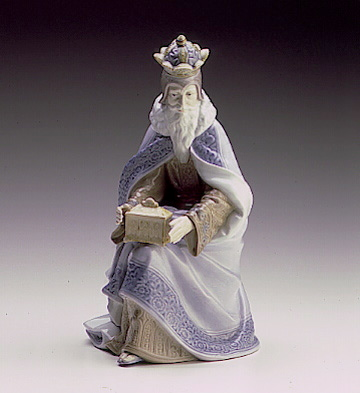 King Melchor-white Lladro Figurine