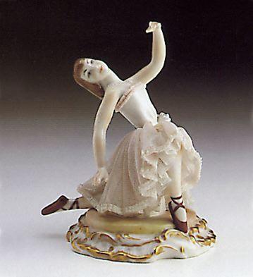 Kneeling Ballerina Lladro Figurine