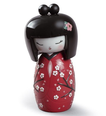 Kokeshi Ii (red) Lladro Figurine