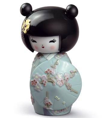 Kokeshi Iii (turquoise) Lladro Figurine