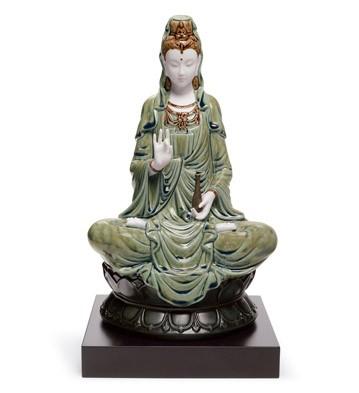 Kwan Yin (green) Lladro Figurine