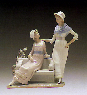Ladies Talking Lladro Figurine