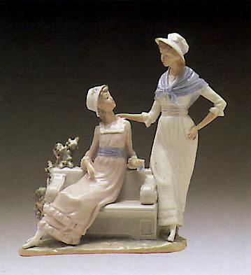 Ladies Talking Lladro Figurine