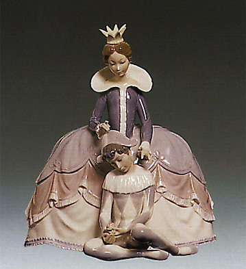 Lady W/ Young Harlequin Lladro Figurine