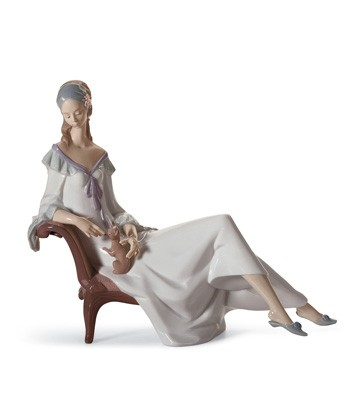 Lady With Chihuahua Lladro Figurine