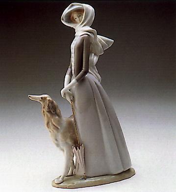Lady With Grey-hound Lladro Figurine