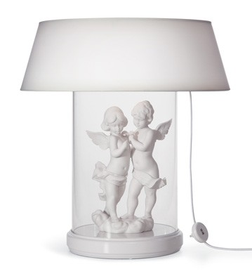 Lamp Re-deco. Large Glass Case (us) Lladro Figurine
