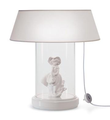Lamp Re-deco. Small Glass Case (us) Lladro Figurine