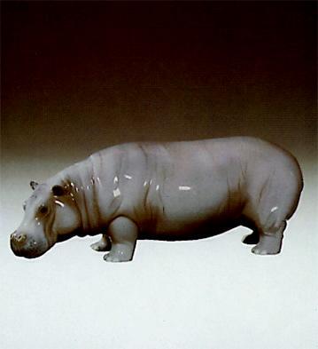 Large Hippopotamus Lladro Figurine