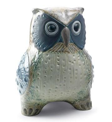 Large Owl (grey) Lladro Figurine