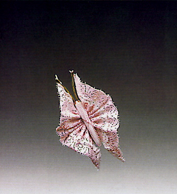 Large Pink Butterfly N.6 Lladro Figurine