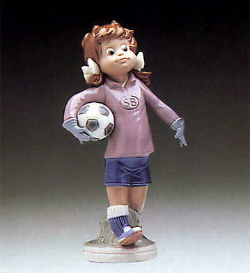 Lilly Football Player Lladro Figurine