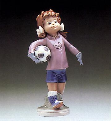 Lilly Football Player Lladro Figurine