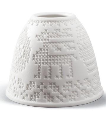 Lithophane Shade - Cross-stitch Lladro Figurine