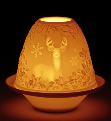 Lithophane Votive Light - Deer Lladro Figurine
