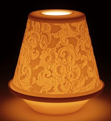 Lithophane Votive Light - Lace Lladro Figurine