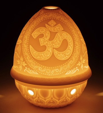 Lithophane Votive Light - Om Lladro Figurine