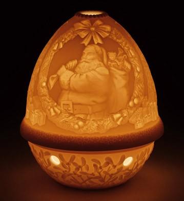 Lithophane Votive Light - Santa Claus Lladro Figurine