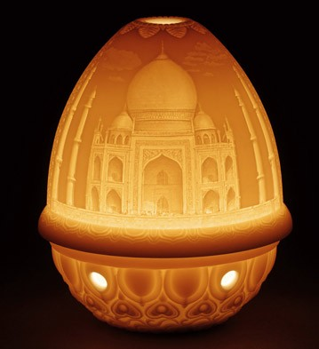Lithophane Votive Light - Taj Mahal Lladro Figurine