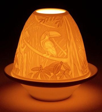 Lithophane Votive Light - Toucans Lladro Figurine