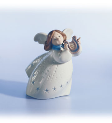 Little Angel With Lyre Lladro Figurine