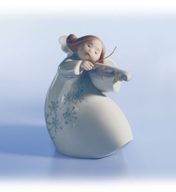 Little Angel With Violin Lladro Figurine