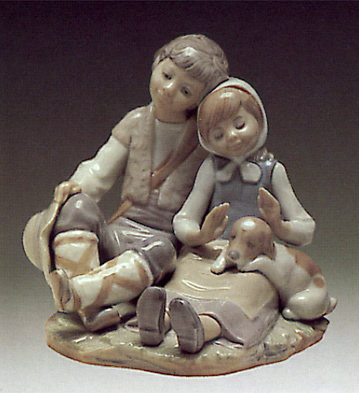 Little Brothers Lladro Figurine