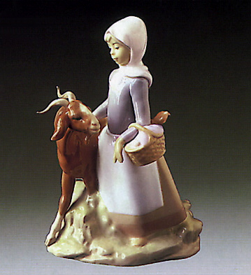 Little Girl W/ Goat Lladro Figurine