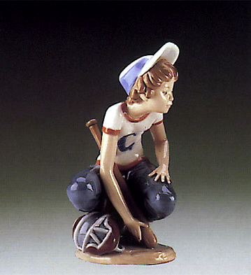 Little Leaguer,catcher Lladro Figurine