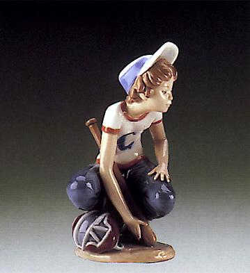 Little Leaguer,catcher Lladro Figurine