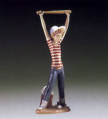Little Leaguer,exercising Lladro Figurine