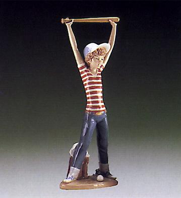 Little Leaguer,exercising Lladro Figurine