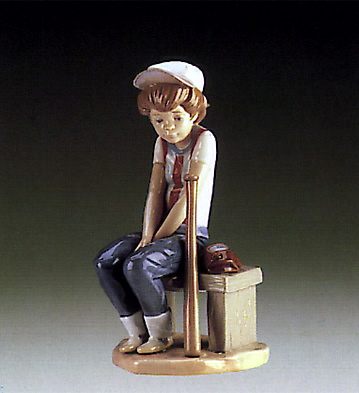 Little Leaguer,on Bench Lladro Figurine